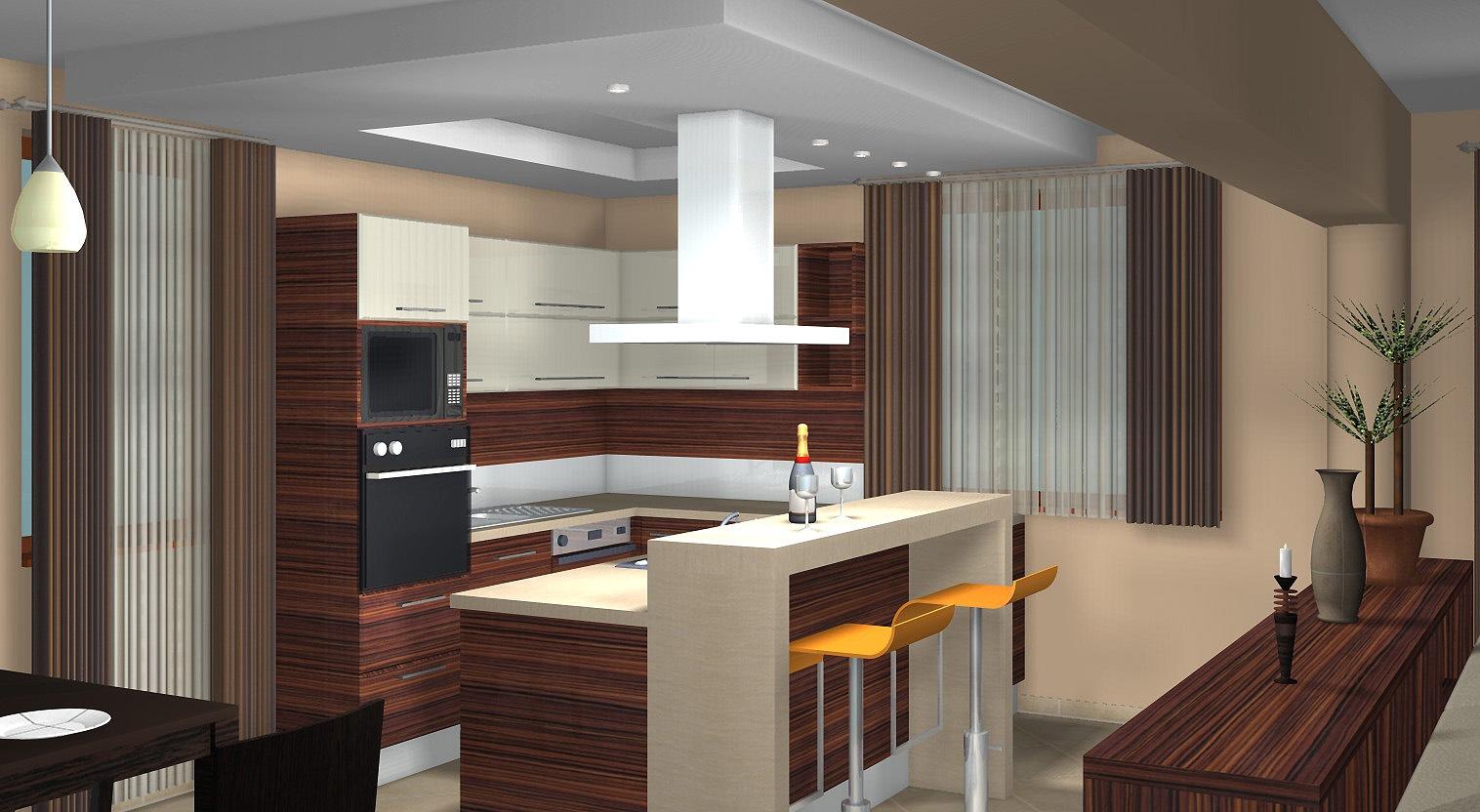 Egyterű nappali-étkező-konyha kialakítása