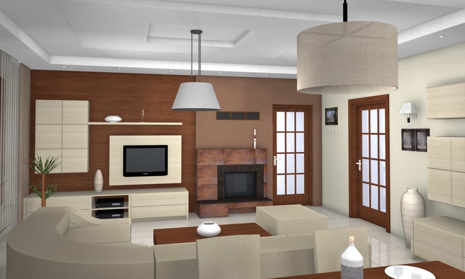 Középkorú házaspár modern lakása