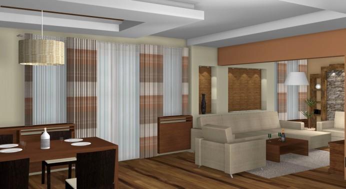 Szerkezetkész családi ház belső tervezése - nappali