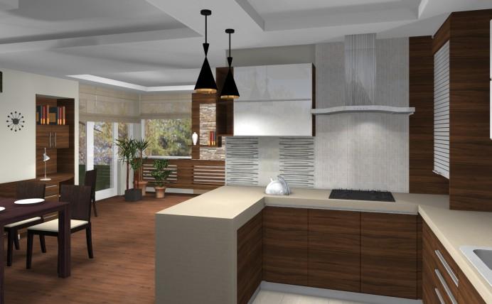 Modern egyterű nappali lakberendezése egy hagyományos családi házban_1