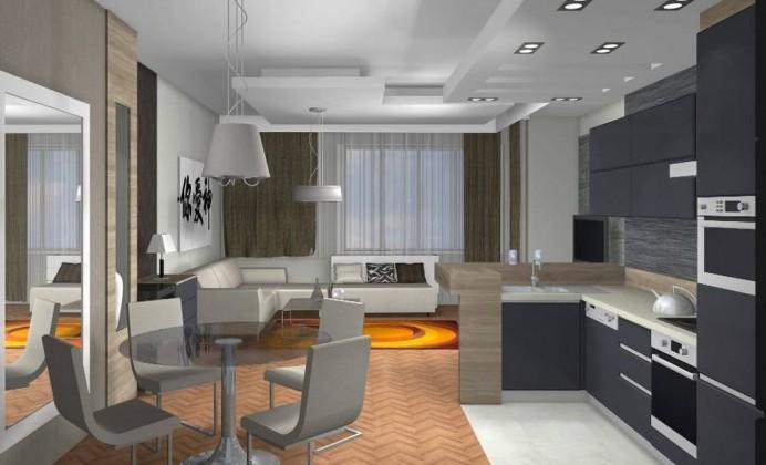 Régi lakásban modern enteriör_1