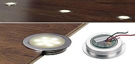 LED-es padlólámpa laminált parkettába