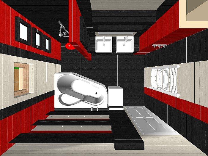 Fürdőszoba extravagáns csempével (BL 5. rész)  Home & Decor – lakberendezés