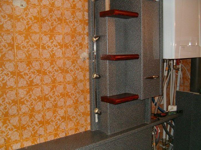 Fürdőszoba felújítás csempe helyett konyhai munkalappal – galéria – 2.rész  Home & Decor ...