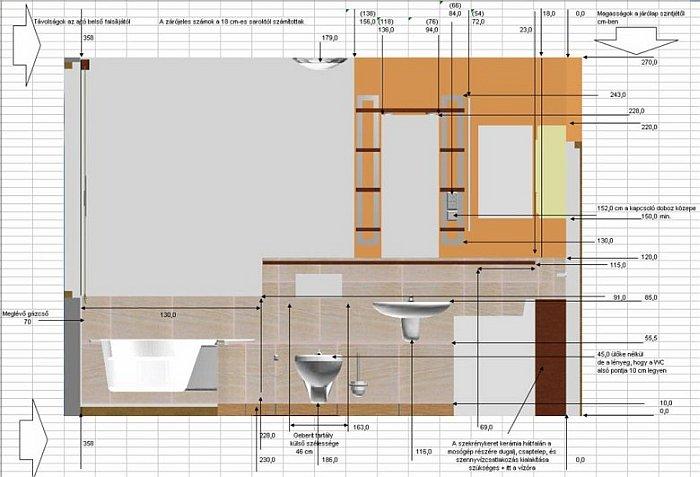 A lakótelepi fürdőszoba műszaki leírása és burkolatkiosztási terve (LI-5.rész)  Home & Decor ...