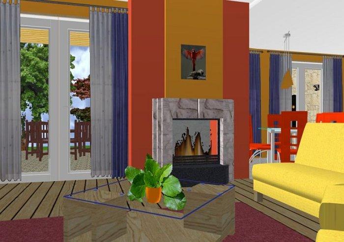 Nappali szoba, étkező, konyha modern lakberendezése, mediterrán ...