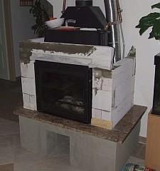 Vízteres kandalló tűztér beépítése (Stier Norbert)