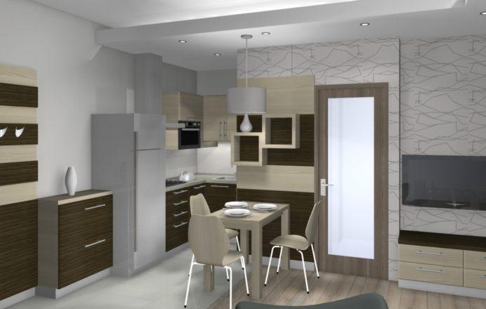 30 négyzetméteres élhető lakás kialakításának látványterve