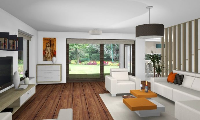 XVI. kerületi újonnan épülő kétszintes ház lakberendezési tervezése - látványterve