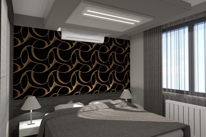 XV. kerületi társasházi lakás lakberendezési tervezése - látványterv