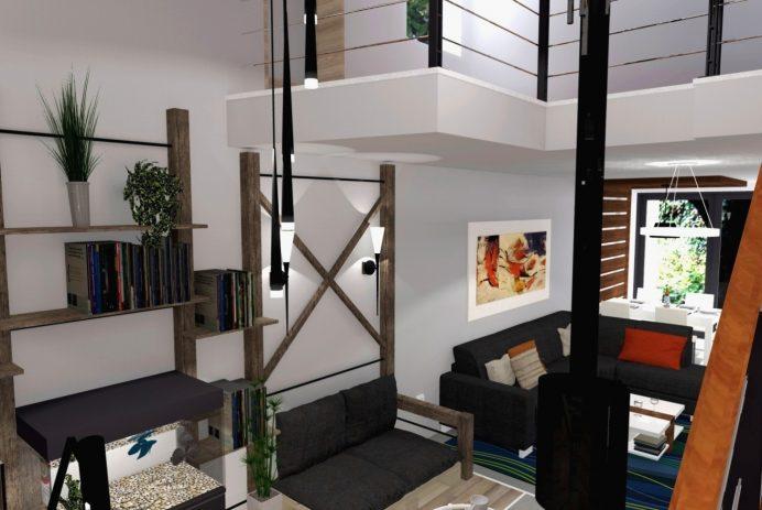 Sorházi lakás lakberendezése (látványtervek)